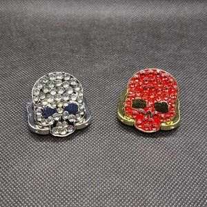 Jeweled Skull Ring Grip Phone Accessories